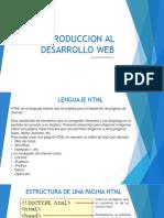 Introduccion Al Desarrollo Web