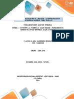 Tarea 3 Estudiar Temáticas de La Unidad N 2 Fundamentos Administrativos