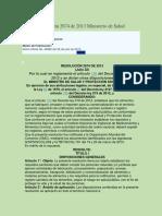 ALIMENTOS - Resolución 2674 de 2013 Ministerio de Salud