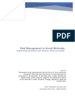 Risk Management in Social Networks