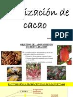 Fertilisacion de Cacao ..