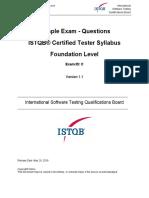 CTFL 2018 Sample Questions Exam C v1.1 Questions