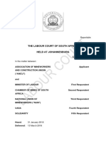 The Labour Court of South Africa, Held at Johannesburg - Amcu
