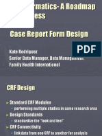 16 Case Report Form Design