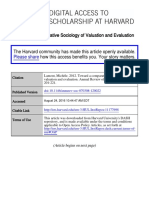 Lamont, Michèle. 2012. Toward a comparative sociology of valuation and evaluation. Annual Review of Sociology 38, no. 1