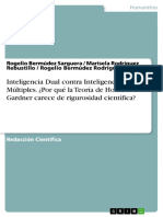Inteligencia Dual contra Inteligencias Múltiples. Por qué la Teoría de Howard Gardner carece de rigurosidad - Rogelio Bermudez Sarguera.pdf