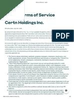 Terms of Service - Certn