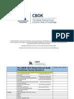 CBOK 2015 Practitioner Survey Question Lis1t