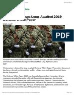 Thayer Vietnam Releases Long-Awaited 2019 Defense White Paper