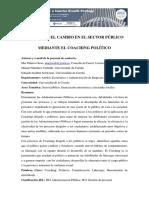 El Coaching en El Sector Publico y Politico