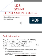 reynolds adolescent depression scale-2