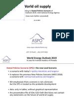Analysis of WEO-2019 ASPO De