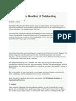 10 Qualities of an Outstanding Teacher