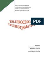 TELEPROCESO Y TELEINFORMATICA