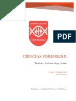 Ciências Forenses II - Prof. Jorge Quintas