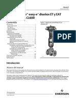 Instruction Manual Válvulas Fisher Easy e Diseños Et y Eat Clases Cl125 a Cl600 Fisher Et Eat Easy e Valves Cl125 Through Cl600 Spanish Universal Es 124672