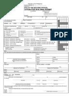 Application Form Building Permit