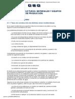 ESTRUCTURAS, MATERIALES Y EQUIPOS DE PRODUCCIÓN