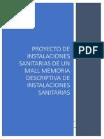 Proyecto de Instalaciones Sanitarias de Un Mall Memoria Descriptiva de Instalaciones Sanitarias