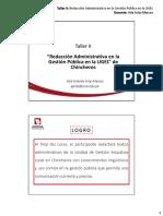 Pegp Ugelch Ppt Taller II Redaccion Administrativa 1