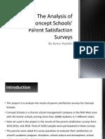 the analysis of concept schools parent satisfaction survey