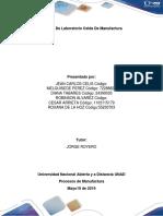 Informe de Laboratorio Celda de Manufactura