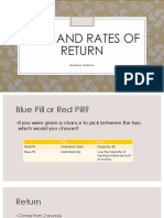 Risks and Rates of Return