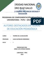 Teorías de La Educación y Pedagogía