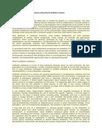 Study of Drug Resistance in Bacteria Using Natural Antibiotic Turmeric