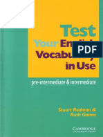 Test Your English Vocabulary in Use - Pre-Intermedia & Intermediate