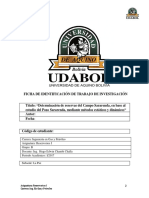 Determinación de reservas del Campo Sararenda, en base al  estudio del Pozo Sararenda, mediante métodos estáticos y dinámicos