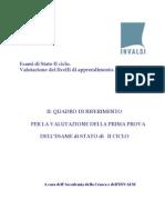 INVALSI - QUADRO RIFERIMENTO_IIciclo