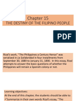 Rizal Chapter 15 the Destiny of the Filipino People 1