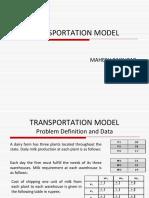 Final Transportation Model Mahesh