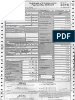 BIR Form 2316 Roselie Fortus