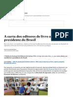A Carta Dos Editores de Livro Ao Futuro Presidente Do Brasil