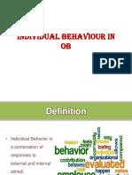 Individual Behaviour in Ob