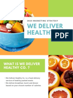 Colorful Healthy Food Marketing Plan Presentation