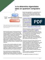 Algorithms Eigenstates Thermal States Quantum