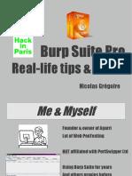 Burp Suit Tips