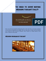 What Do You Need to Know Before Planning a Wedding Tuscany Italy