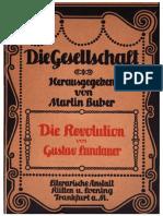 Gustav Landauer_Die Revolution