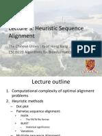 Lec 3 - Heurestic Alignment