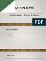 Infant Respiratory distress syndrome