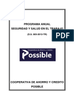 Programa de Gestión de La Seguridad y Salud en El Trabajo Para Trabajo Final