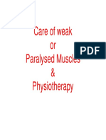 4.13- Care of Weak Muscles and Physiotherapy