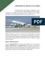Human Factors - Fundamental Concepts