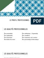 Le Profil Professionnel
