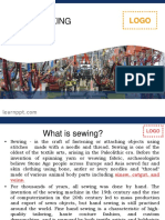 What is sewing?