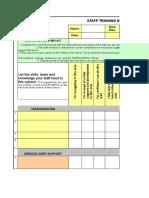 Tna Staff Self Assessment Scores Plan